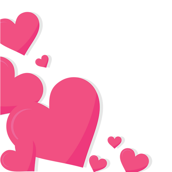 Background with Pink Hearts - Free PNG Image, Transparent Image Digital Download
