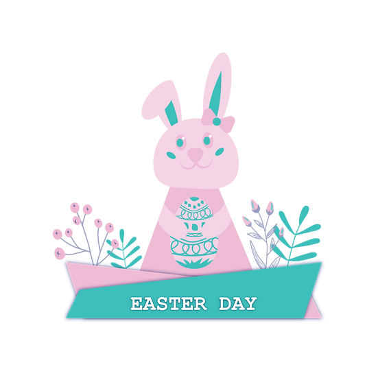 Easter Day Charming Clipart - Easter PNG Transparent Image - Instant Download