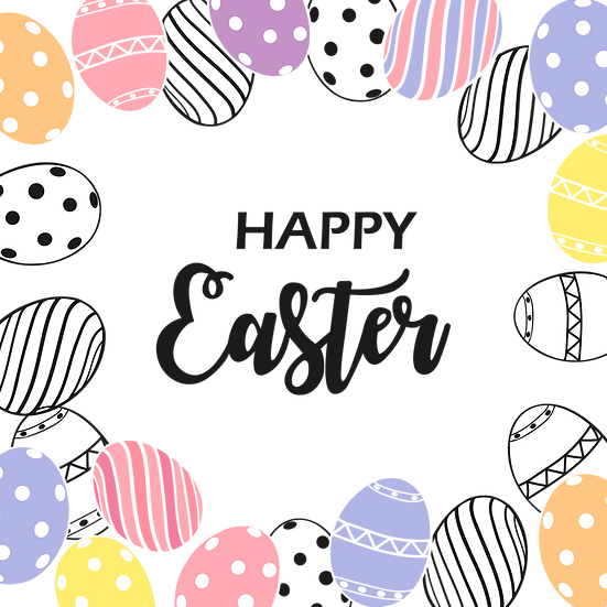Awesome Easter Greeting Card - PNG Transparent Image - Instant Download