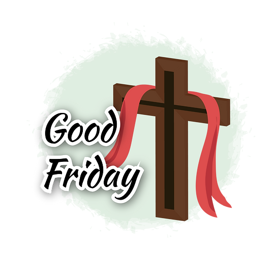 Good Friday Magical Clipart - PNG Transparent Image - Instant Download