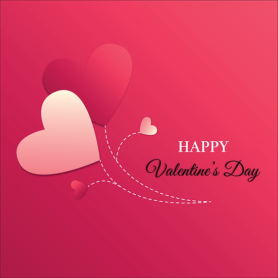 Happy Valentine's Day Greeting Card - PNG Image - Instant Download