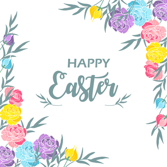 Incredible Easter Greeting Card - Easter Transparent Image - Instant Download