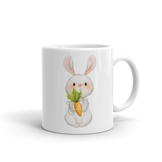 Watercolor Hare Rabbit Coffee Cup Mug for Coffee / Tea White Ceramic Mugs 1