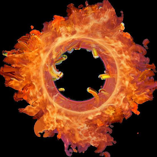 Burning Fire Circle - Free PNG Images, Transparent Image Digital Download