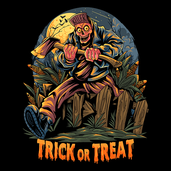 Trick or Treat Halloween Printables PNG Image  - Editable / Downloadable