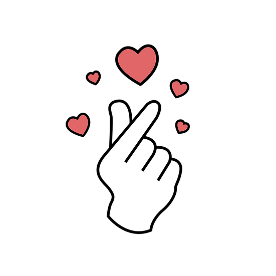Finger Heart Clipart - Free PNG Images, Transparent Image Instant Download
