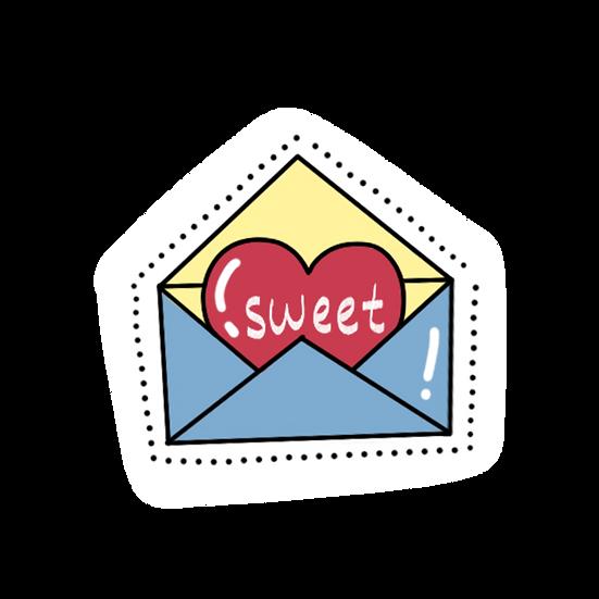 Love Letter Clipart - Valentine's Day PNG Transparent Image - Instant Download