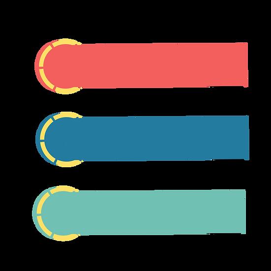 Colorful Label Banners - Free PNG Images, Transparent Image Digital Download