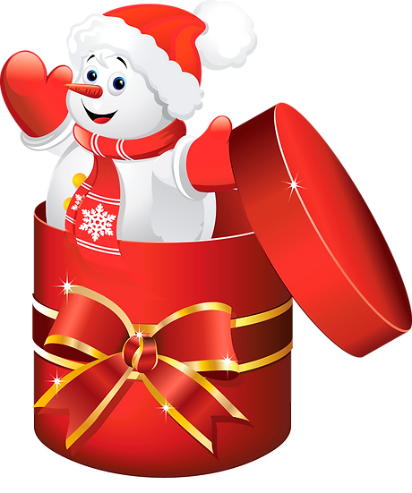 Snowman in the Gift Box Free PNG Images - Free Digital Image Download