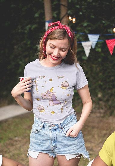 Magic Party Unicorn Design Short-Sleeve Women's T-Shirt