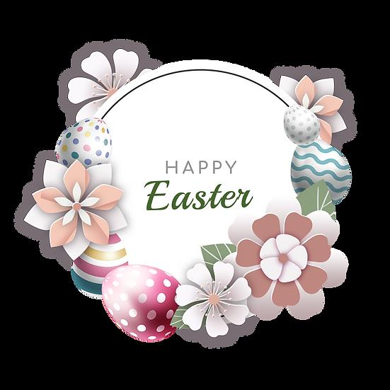 Enchanting Easter Greeting Card - PNG Transparent Image - Instant Download