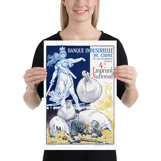 """WW1 French Poster """"Banque Industrielle de Chine 4e Emprunt National  Enlarge"""""""