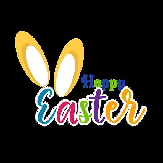 Happy Easter Vivid Inscription - Easter PNG Transparent Image - Instant Download