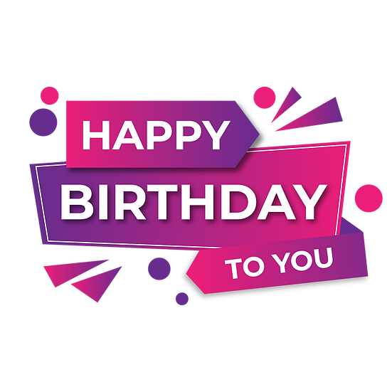 Happy Birthday to You Inscription - Transparent Image - Digital Download