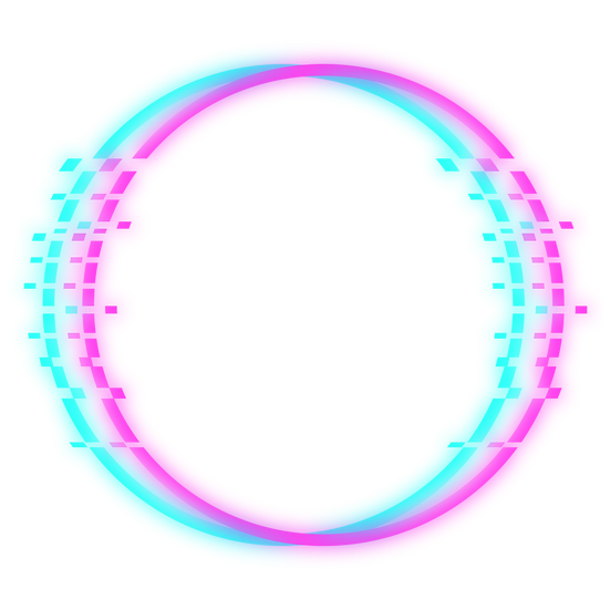 Blue and Pink Glitch Circle - Free PNG Image, Transparent Image Instant Download