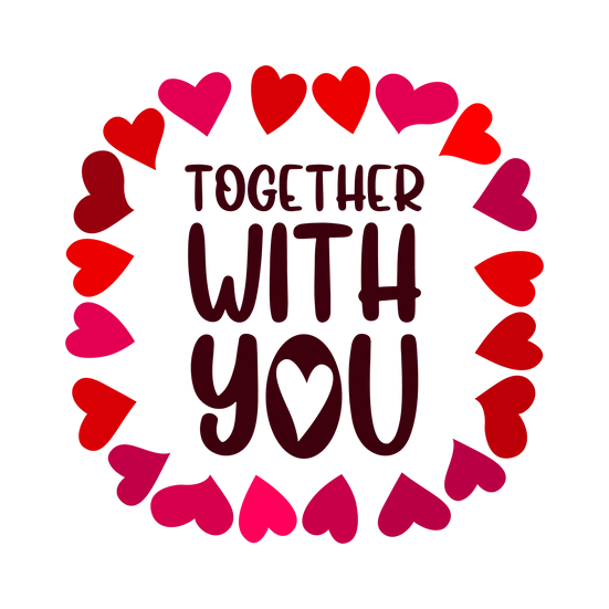 Together with You - Valentine's Day PNG Transparent Image - Instant Download