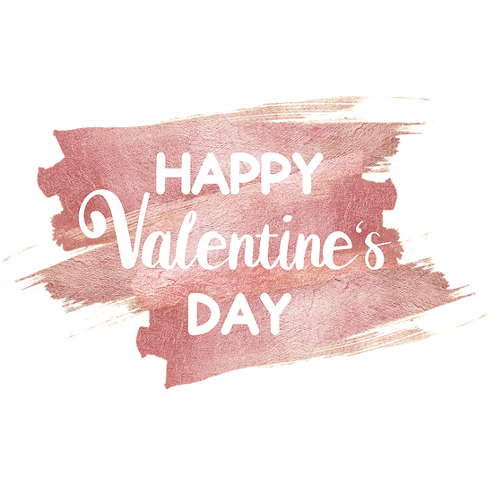 Happy Valentine's Day - Brush Stroke - PNG Transparent Image - Instant Download