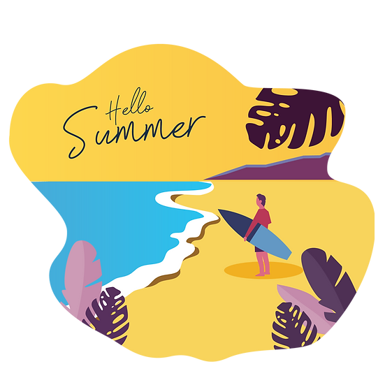Hello Summer Great Clipart - Free PNG Images, Transparent Image Instant Download