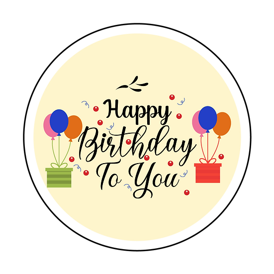 Happy Birthday to You Greeting Card - PNG Transparent Image - Digital Download