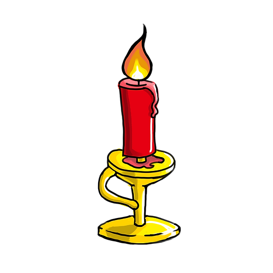 Red Candle - Free PNG Fire Images, Transparent Image Instant Download