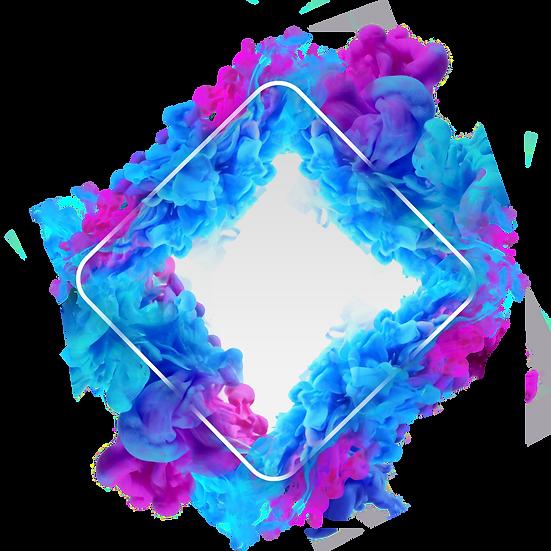 Red Blue Smoke Frame - Free PNG Images, Transparent Image Instant Download