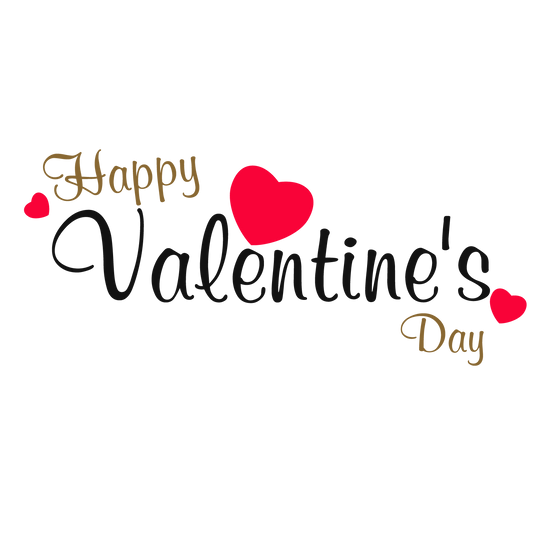 Happy Valentine's Day Awesome Inscription Transparent Image - Instant Download