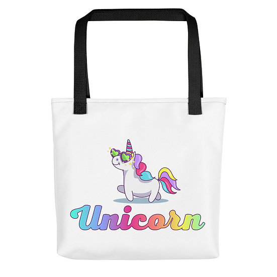 Unicorn with Sunglasses Tote bag