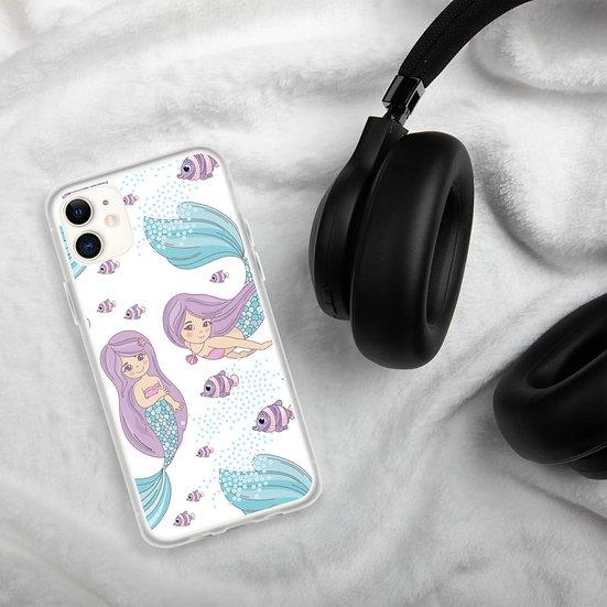 Cute Purple Mermaid iPhone Cases1