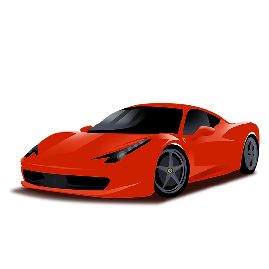 Luxury Sports Car Clipart - Free PNG Images, Transparent Image Digital Download