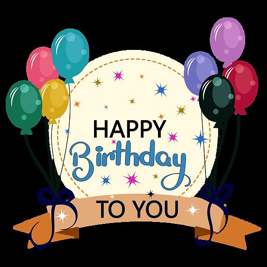 Miraculous Birthday Greeting Card - PNG Transparent Image - Digital Download