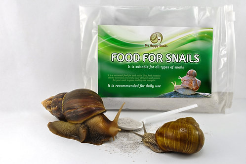 ORGANIC FOOD for PET SNAILS - 7 oz or 200 grams