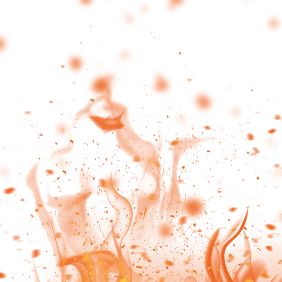 Realistic Hand-Painted Flame, Free PNG Image, Transparent Image Instant Download