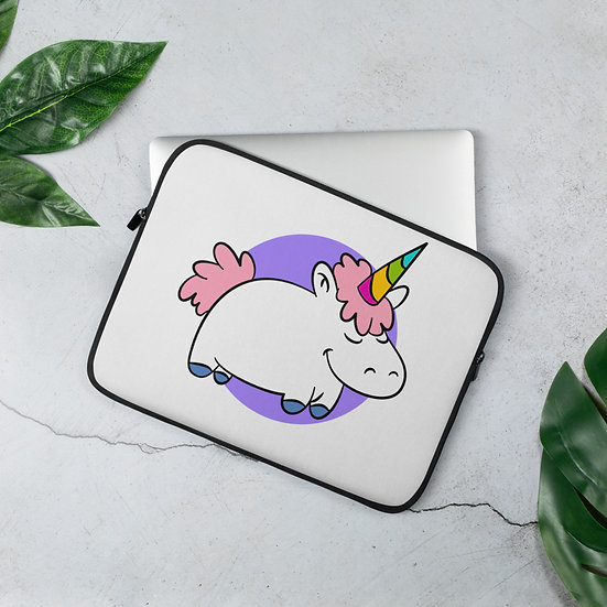 Little Adorable Unicorn Laptop Sleeve for MacBook, HP, ACER, ASUS, Dell, Lenovo