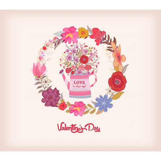 Love is All You Need - Valentine's Day PNG Image - Instant Download