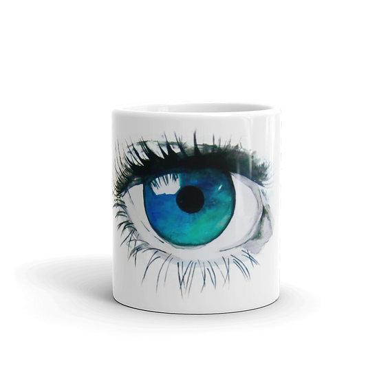 Watercolor Eye Coffee Cup Mug for Coffee / Tea White Ceramic Mugs 11/15 oz1