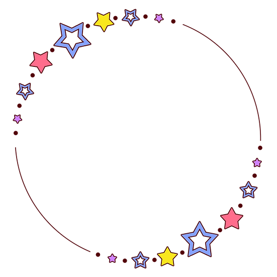 Colorful Star Circle Frame - Free PNG Images, Transparent Image Digital Download