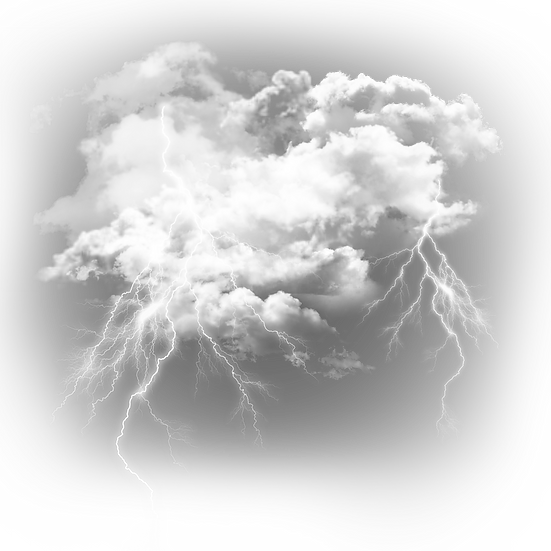 Clouds with Realistic Lightning - Free PNG Transparent Image, Instant Download
