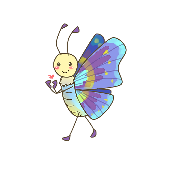 Cute Butterfly Clipart - Free PNG Images, Transparent Image Instant Download