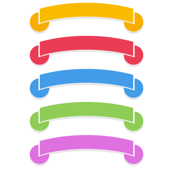 Colorful Title Banners - Free PNG Images, Transparent Image Instant Download