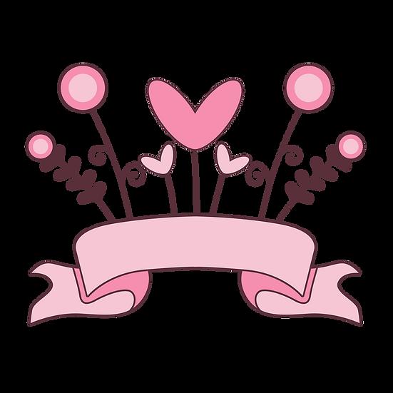 Cute Pink Banner - Free PNG Images, Transparent Image Digital Download
