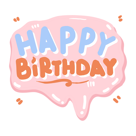 Cool Birthday Clipart - PNG Transparent Image - Digital Download