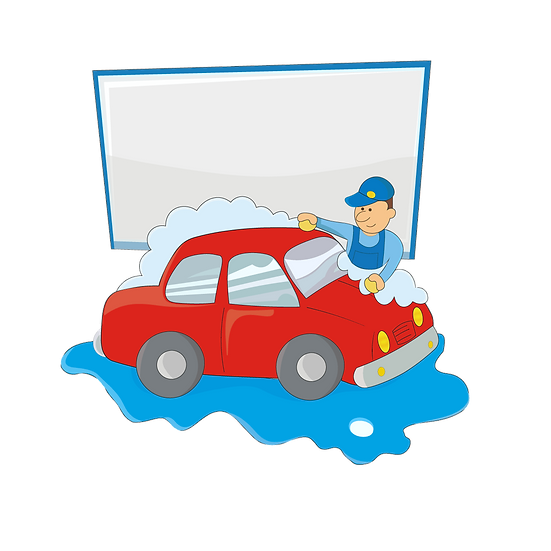 Cartoon Car Wash Service - Free PNG Images, Transparent Image Digital Download