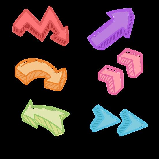 Cute Colorful Arrows - Free PNG Images, Transparent Image Digital Download