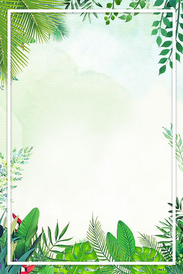 Botanical Background with White Frame - Free PNG Images, Instant Download