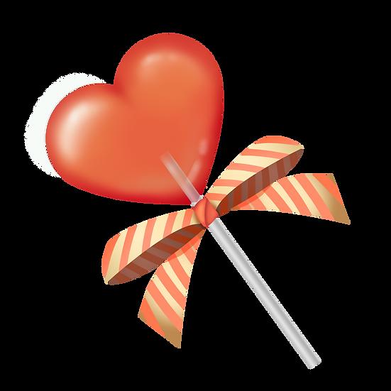 Heart-Shaped Lollipop - Free PNG Images, Transparent Image Digital Download