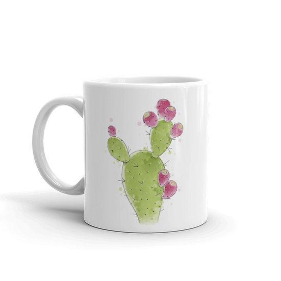 Watercolor Cactus Coffee Cup Mug for Coffee / Tea White Ceramic Mugs1