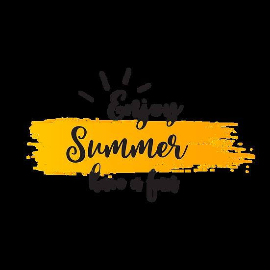 Enjoy Summer, Have a Fun - Free PNG Images, Transparent Image Digital Download