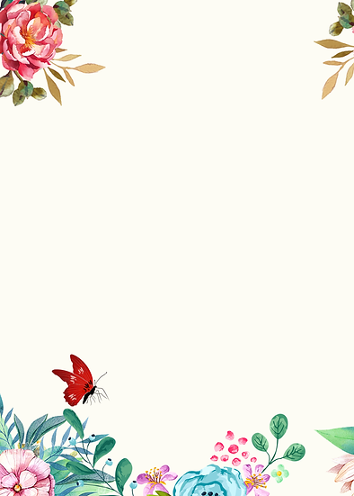 Great Background with Flowers and Butterfly - Free PNG Images, Digital Download
