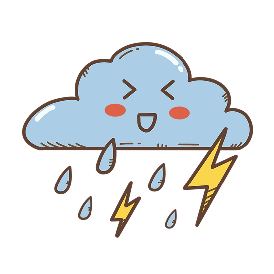 Rain Cloud with Thunder - Free PNG Images, Transparent Image Instant Download