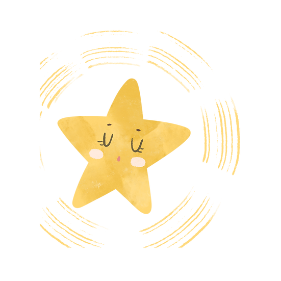 Adorable Star Illustration - Free PNG Images, Transparent Image Digital Download